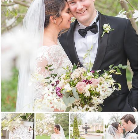 Mariam & Chad - Elegant Paine Art Garden Wedding