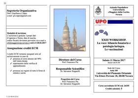 XXIII Workshop del GOP Gruppo Otologico Piemontese