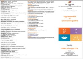 Aggiornamenti in otorinolaringoiatria. Cuneo 26 maggio 2018