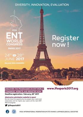 Congresso Mondiale di Otorinolaringoiatria Parigi 24-28 giugno 2017. Palazzo dei congressi