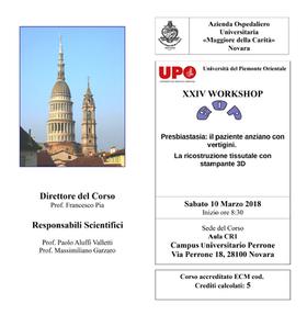 XXIV WORKSHOP del GOP Gruppo Otologico Piemontese