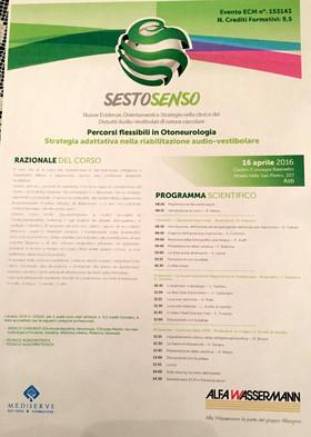 Convegno Sesto Senso - Asti 16 aprile 2016