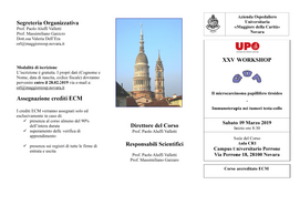 XXV WORKSHOP DEL GOP - Novara 9 marzo 2019