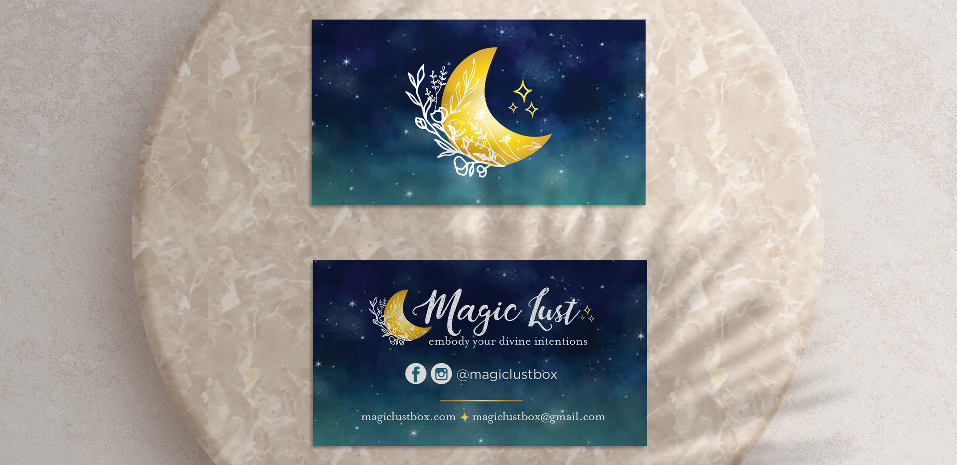 Magic Lust Business Cards