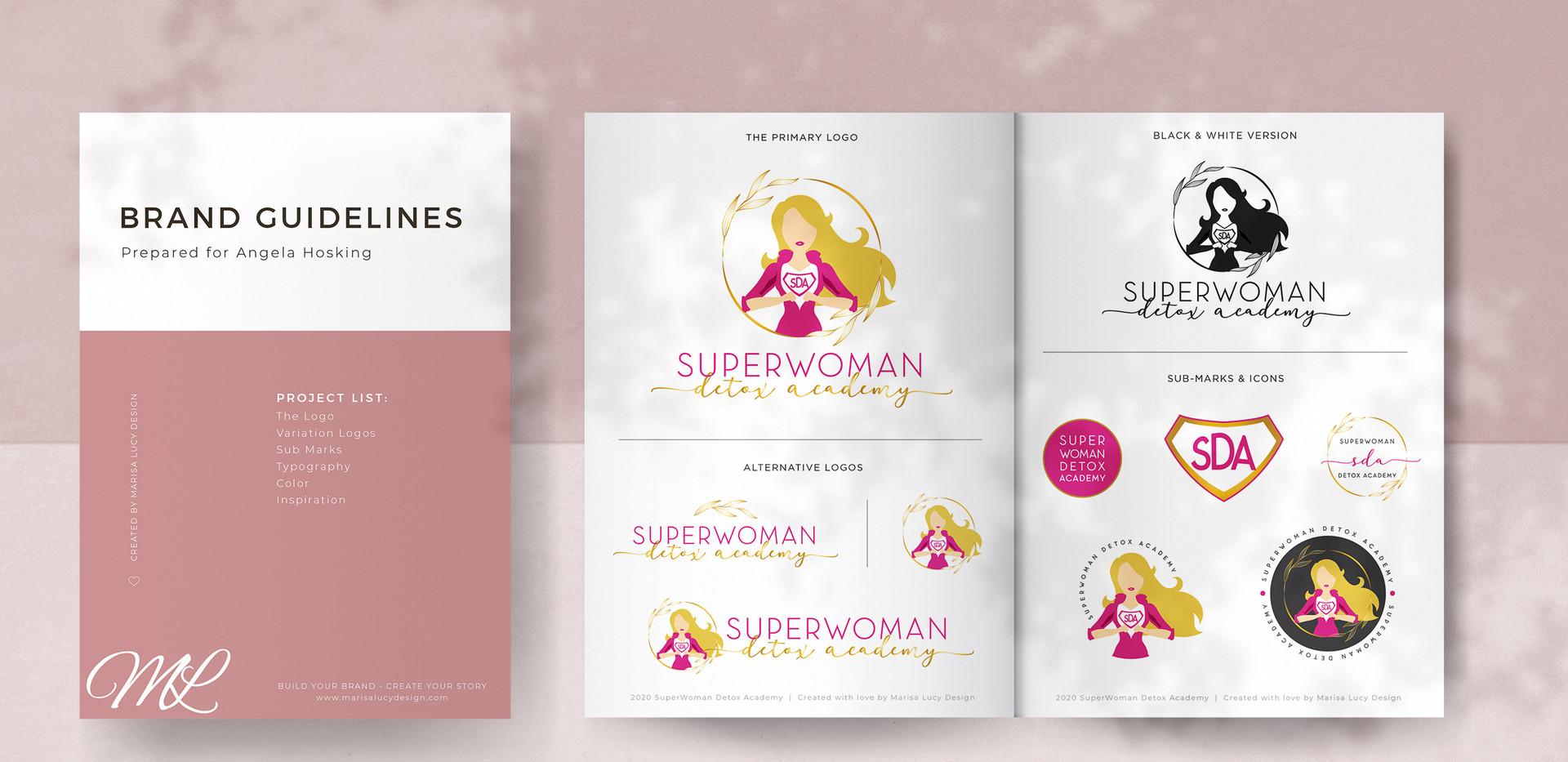 Super Woman Detox Academy Branding