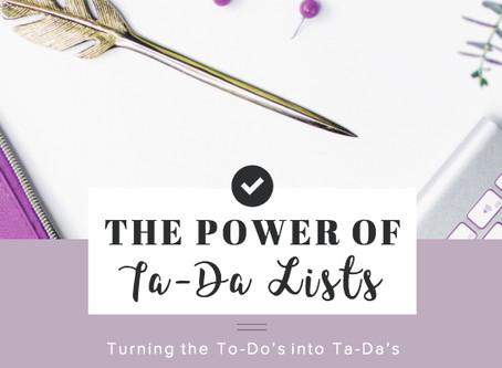 The Power of Ta-Da Lists