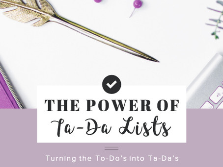The Power of Ta-Da Lists