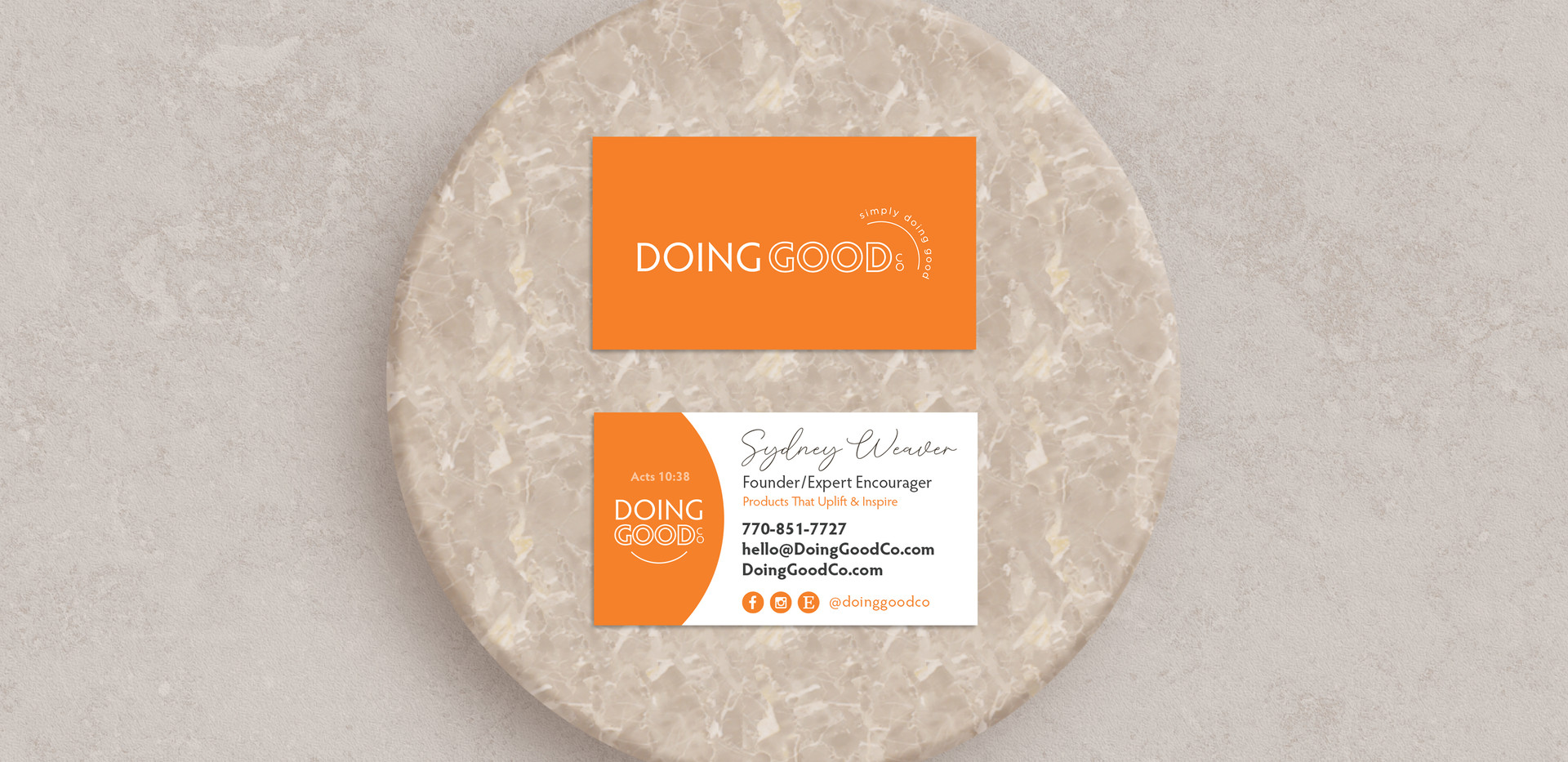 Doing Good Co. Business Cards
