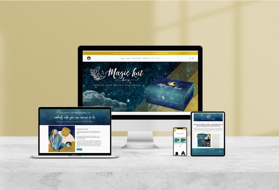 Magic Lust Website Design