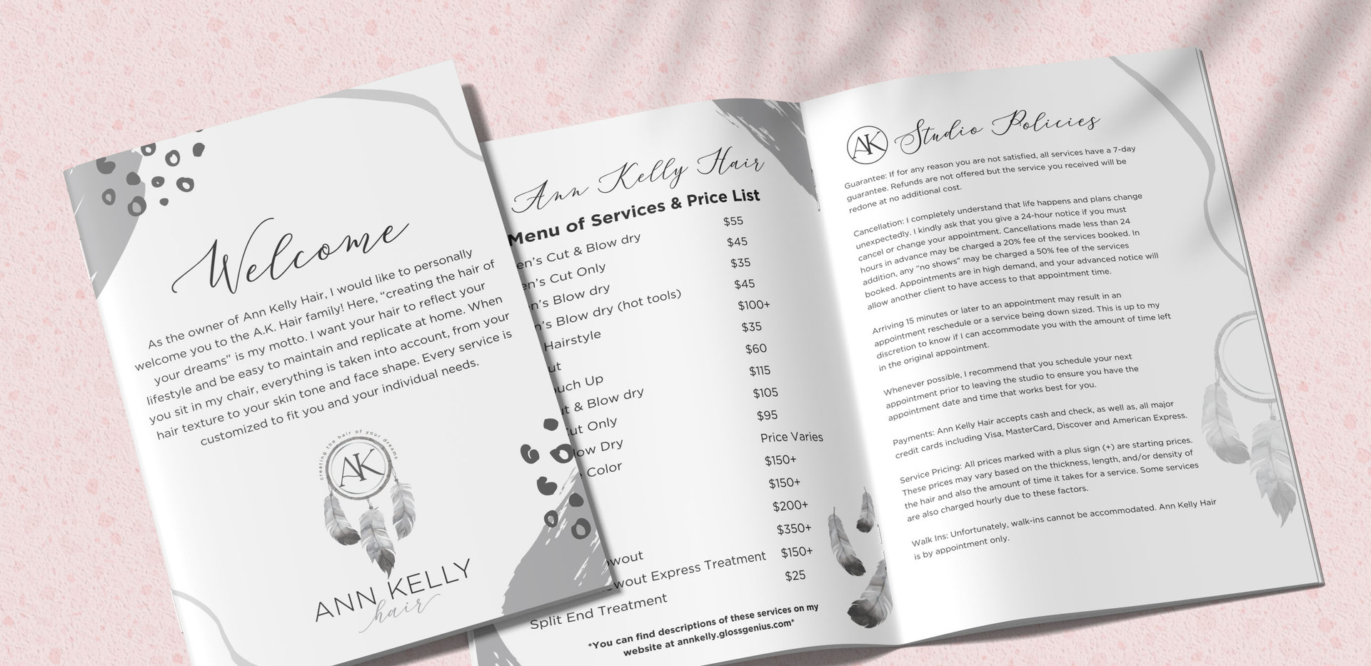 Ann Kelly Hair Pricing Packet