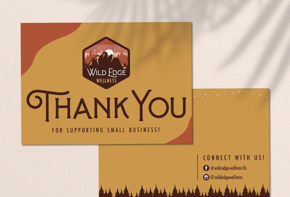 Wild Edge Wellness Thank You Cards