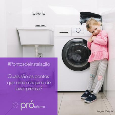 Quais são os pontos que uma máquina de lavar precisa?