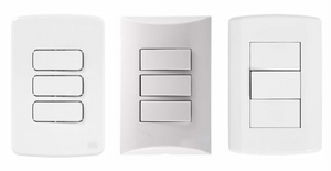 Módulos tomadas e interruptores