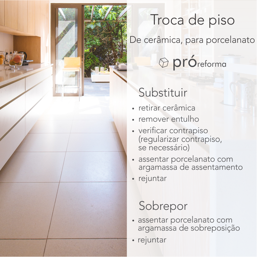 Piso sobre piso, sobreposição de piso, substituição de piso, demolição de piso, troca de piso