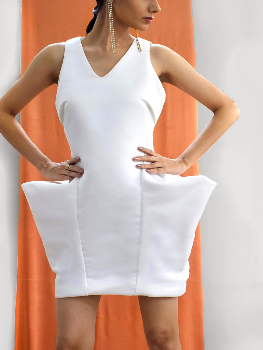 Sculpted Exaggerated dress