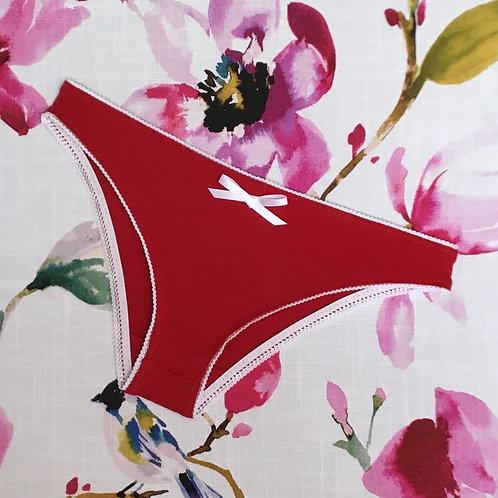 2pk Everyday Undies (bikini) in cherry