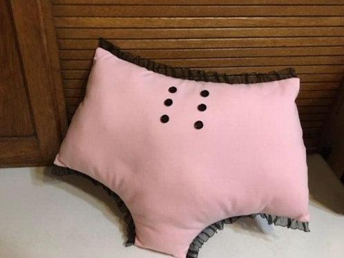 Audrey pillow in bubblegum pink