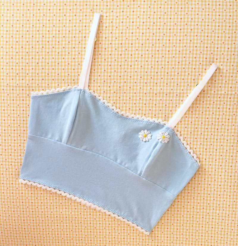 Marilyn L.L. bralette in powder blue