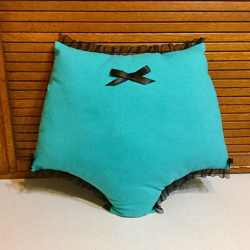 Mae pillow in aqua