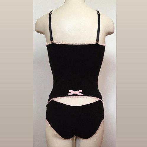 Ginger bodysuit in black