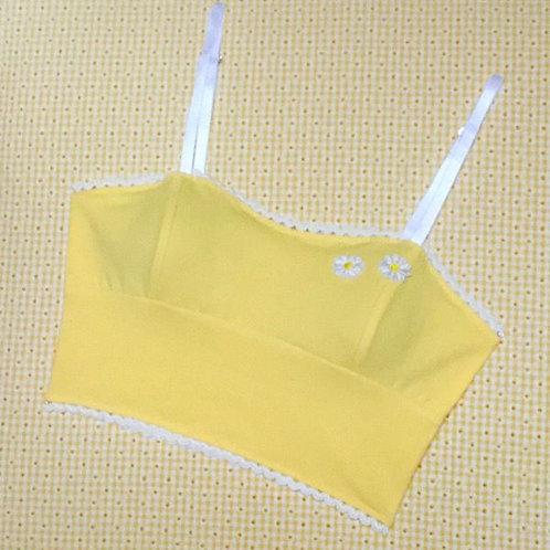 Marilyn longline bralette in buttercup yellow