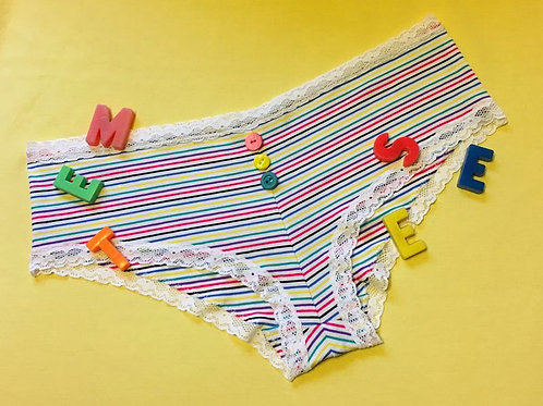 Suzanne panties in multi stripe