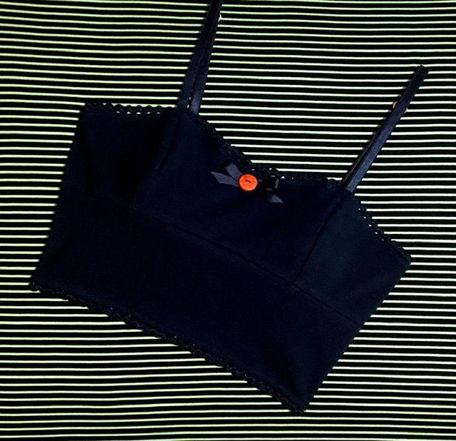 Rita longline bralette in black