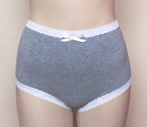 Higher waist (lace trim version)