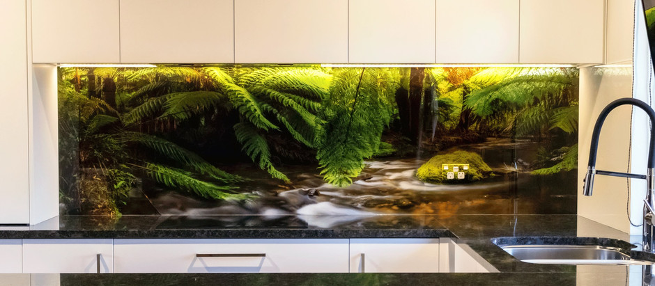 A great example of a landscape image splashback.
