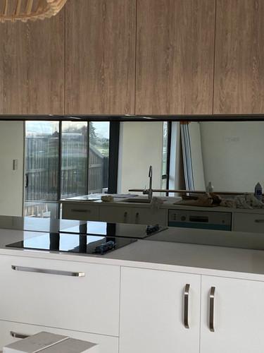 Smokey Grey Mirror in a designer Kitchen