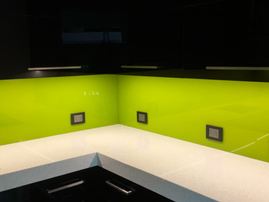 Citron on Black Cabinetry