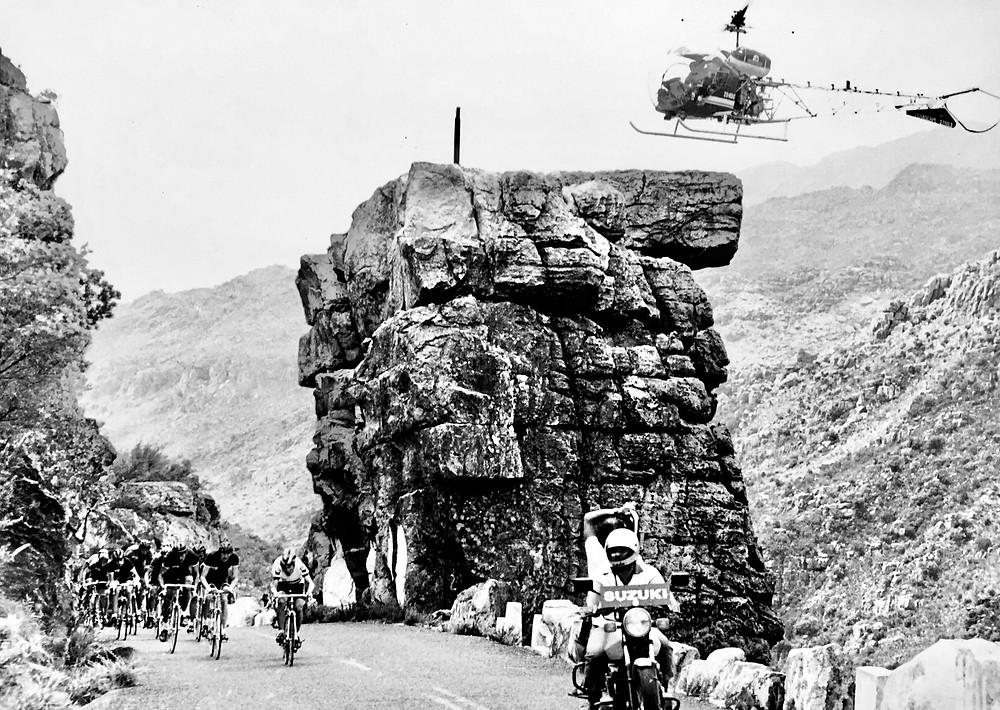 John Heard cycling in South Africa