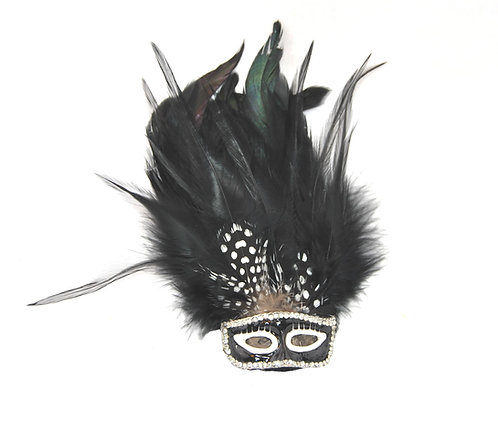 Mardi Gras Mask Brooch/Hairclip - Multiple Colors