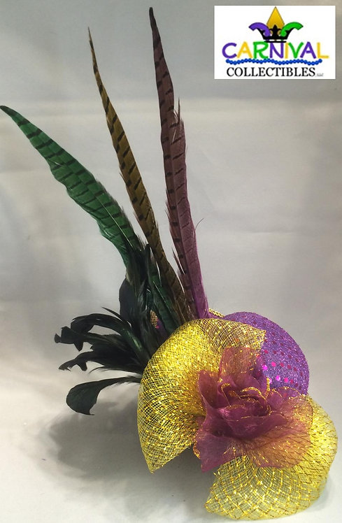 Pretty Lady Mardi Gras Mini Hat