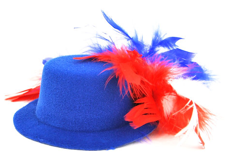 Red White & Blue Chandelle Mini Hat - Blue