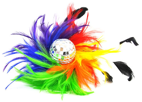 Disco Ball Flat Base Fascinator
