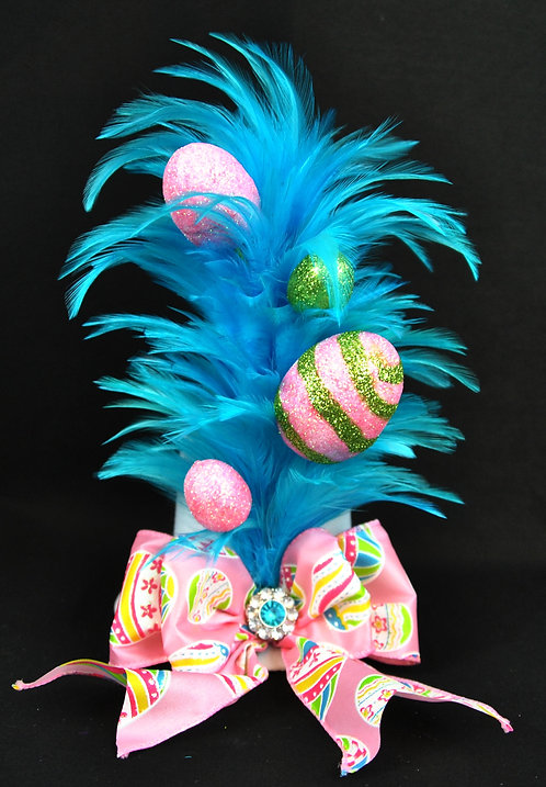 Egg-splash Mini Top Hat - Teal
