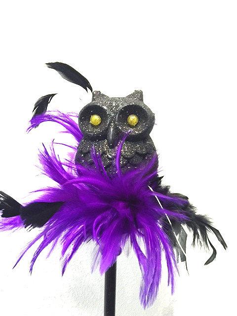LED OWL Flat Base Fascinator