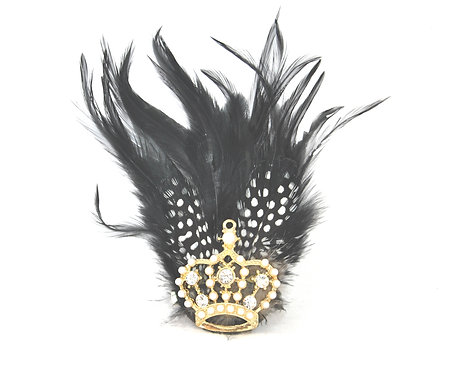 Crown and Feathers Hairclip / Brooch