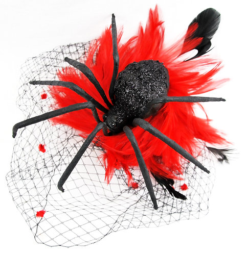 Spider Birdcage - Red w/ Black