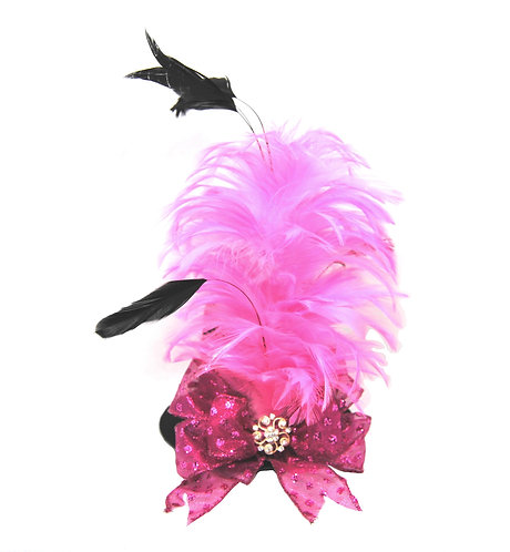 Pink Feathers Mini Top Hat - Options Available