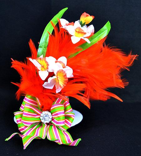 Easter Orange Daffodil Top Hat