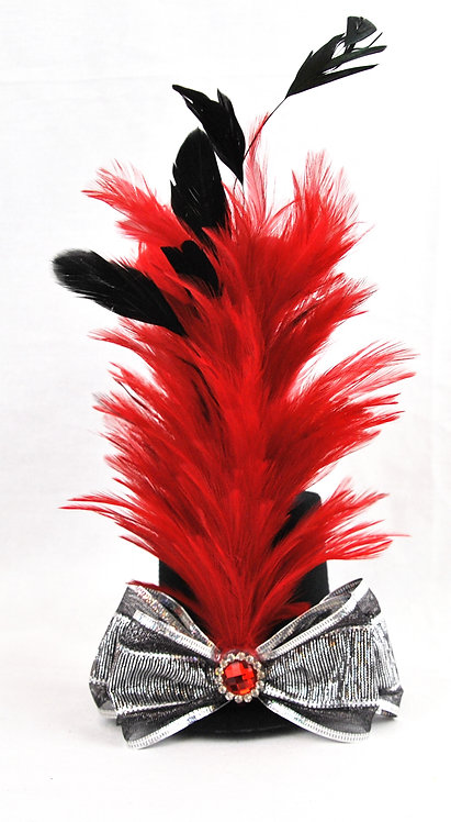 Red Vampire Mini Top Hat