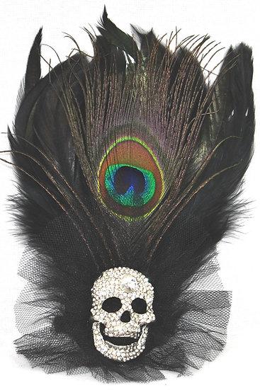 Rhinestone Skull Dual Hairclip