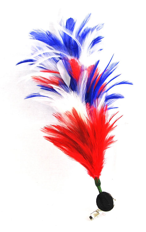 Red White and Blue Feather Stick Hairclip