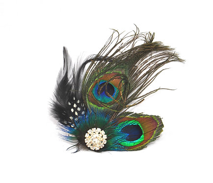 Double Peacock Eye Hairclip