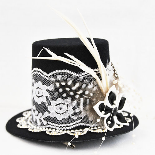 Elegant Lace Mini Top Hat
