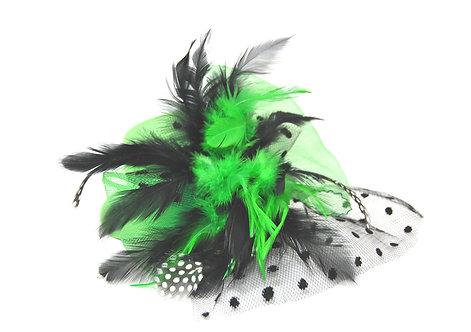 """Green Plumed 5"""" Mini Hat"""