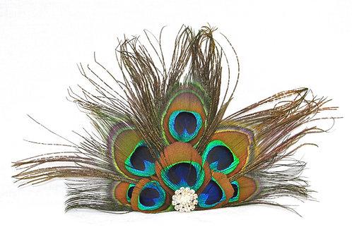 Peacock Fan Hairclip