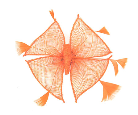 Orange Butterfly Sinamay Fascinator